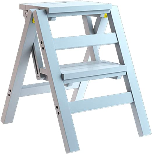 Taburete de Madera sólida Taburete Plegable Escaleras multifunción Silla portátil Escalera de 2 escalones Escalera de Doble Uso Pantalla Ascend Estante para Almacenamiento de macetas: Amazon.es: Hogar