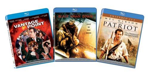 War and Politics 3-pack Action Bundle (Vantage Point, Black Hawk Down, The Patriot) [Blu-ray]
