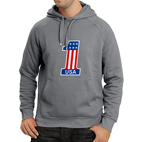 N4074H Hoodie USA N1 (XX-Large Graphite - Outlet Tanger In Shops