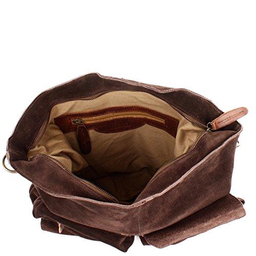 cuir bandoulière A4 à femme en Sac en pour Sac en en main Sac main Cuir Sac à cuir en A4 véritable marron à Sac cuir Leconi foncé brun cuir cuir LE0039 à V main 41x32x10cm véritable sauvage suède g0npwqEZ4x