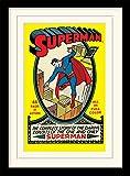 "DC Comics Superman 30 X 40 cm ""No.1"" Mounted And Framed Print"
