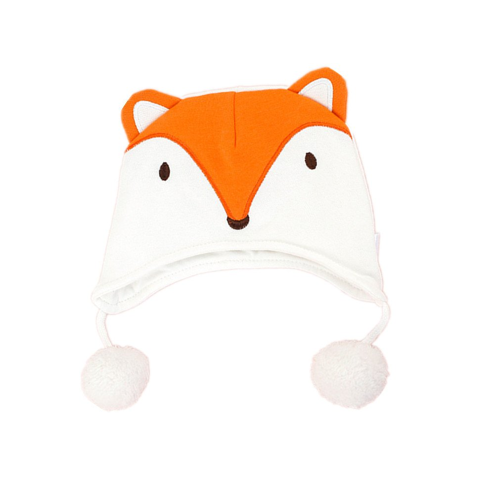 1c5af70951b Infant Baby Cotton Ear Flap Cap Warm Thicken Soft Cartoon Animal Hat  Toddler Kids Children Boys Girls Headwear Autumn Winter Spring -Orange Fox   ...