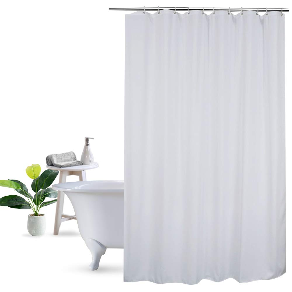 Details About UFRIDAY 48x72 Shower Curtain Liner Solid White Fabric For Hotel