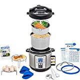 Total Package 9-in-1 Instant Programmable Pressure Cooker, comes with more Accessories than any Instant Pot and Endless Recipes by Yedi Houseware (6 Qt)