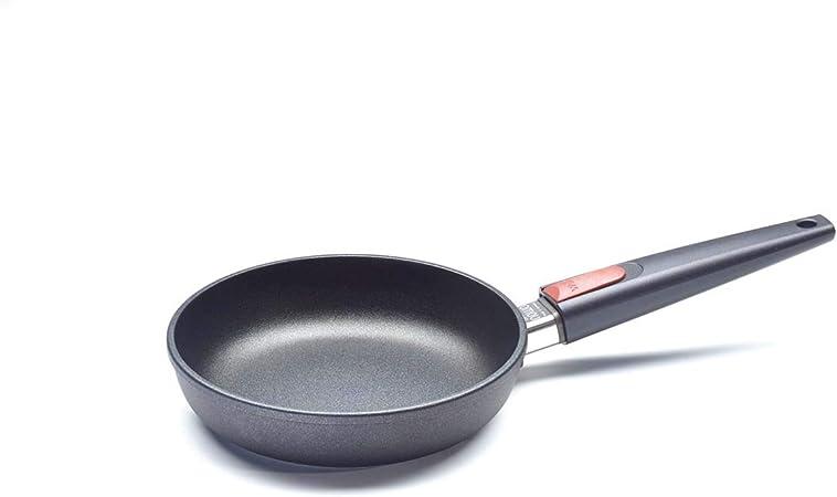 Woll Titanium Nowo - Sartén para freír con mango extraíble, Negro, 20 cm: Amazon.es: Hogar