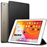"ESR for iPad 7th Generation Case, Yippee Trifold Smart Case for iPad 10.2"" 2019 with Auto Sleep/Wake Function, Lightweight Multiple Viewing Stand Case with Hard Back Cover - Black"