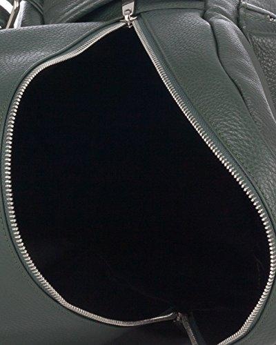 Laura Moretti - Mochila de cuero (tamaño grande) Verde
