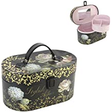 Tri-Coastal Jardin Chic Design Jewellery Box Vanity Train Case
