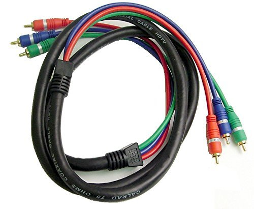 - Calrad 55-871-R-R-6 RGB DBL. Shielded Component Video Cable w/molded ends