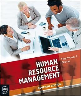 human resource management raymond j stone 7th edition