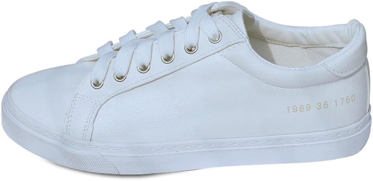 calzado deportivo ocasionales con cordones plana transpirables/ zapatos de Carrefour-blanco Longitud del pie=24.8CM(9.8Inch): Amazon.es: Zapatos y complementos