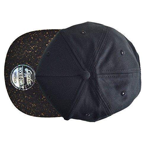Carbon212 hombre Gorra negro unique de Taille para béisbol Negro afwCqa