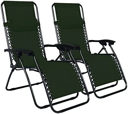 Odaof Adjustable Infinity Zero Gravity Chair Recliner Patio Chairs Outdoor Lounge Chair Pool Folding Beach Chairs 2 Pack