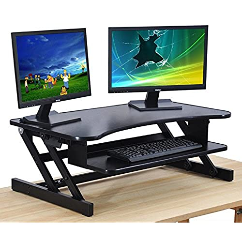 attachment desk pro adjustable height fs varidesk standing plus f