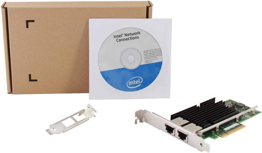 TDW X540-T2 with Intel X540 Chip for Intel X540-T2 10GB Ethernet Converged Network Adapter Dual Copper RJ45 Port X540 Chipset PCI-E X8 NIC