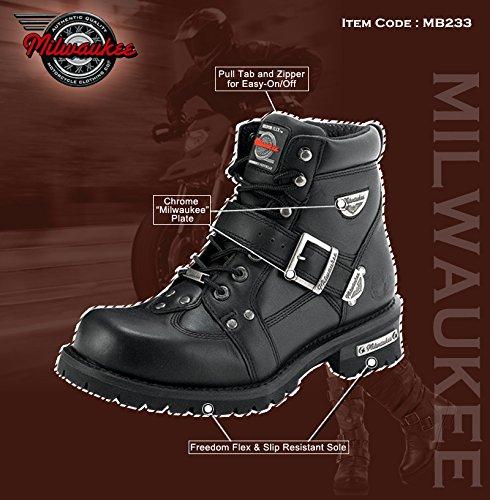 Millwaukee Boots - Milwaukee Dames Road Captain Motorlaarzen 8 Zwart