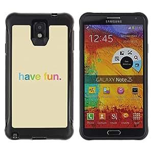LASTONE PHONE CASE / Suave Silicona Caso Carcasa de Caucho Funda para Samsung Note 3 / Have Fun Rainbow Colorful Happy