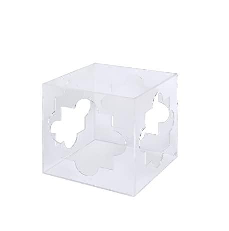 Beau Foxhill Trading Pure Décor Acrylic Cube Table With Cutouts