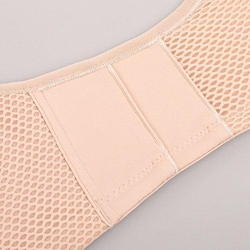 Gratlin - Sujetador De Lactancia Sin Aros Copas Con Relleno Para Mujer Beige