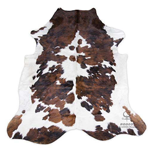 (RODEO Cowhide Rug Tricolor XXL)