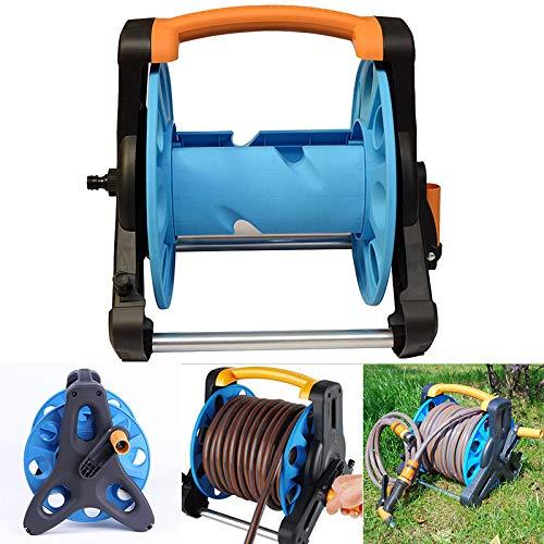 (Nicknocks Garden Hose Reel Stand Portable Freestanding Hose Reels Water Pipe Storage Rack Cart Holder Bracket for 35m 1/2 Inch Hose)