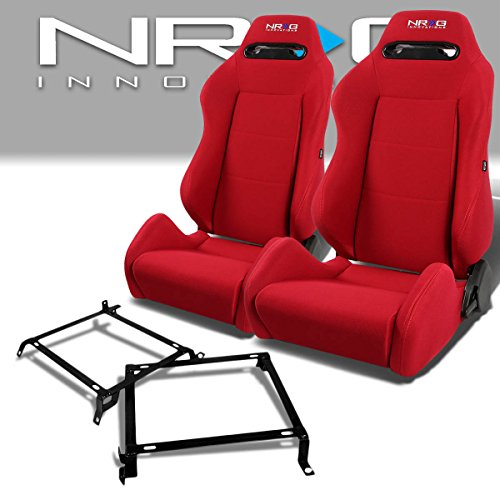 Pair of RSTRLGRD Racing Seats+Mounting Bracket for Honda Civic/Acura Integra Sedan & Coupe
