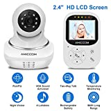 """Baby Monitor, Video Baby Monitor 2.4"""" HD LCD Screen, Baby Monitors with Camera and Audio Night Vision,Support Multi Camera,ECO Mode,Two Way Talk Temperature Sensor,Built-in Lullabies"""