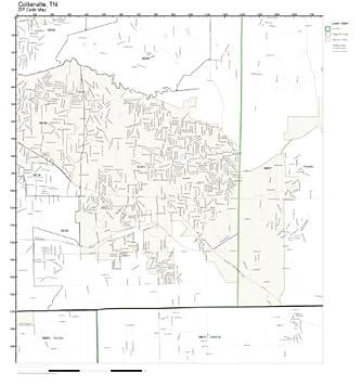 Amazoncom ZIP Code Wall Map of Collierville TN ZIP Code Map