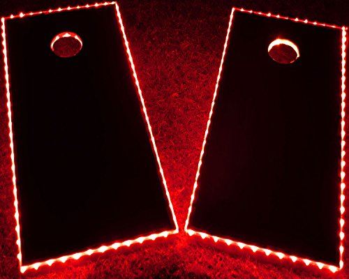 GlowCity LED Cornhole Board Lights - Ultra Bright Lights for Corn Hole and Board, Fits 2 x Boards - Waterproof and Durable Cable Ideal for Family Outdoor Games or Backyard Glow in The Dark Fun