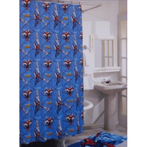 (The Amazing Spider-Man Shower Curtain - Vinyl Shower Curtain)