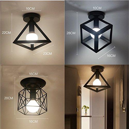 - Bdeng Chandelier Home Decoration Iron Ceiling Lamp锛孲ingle Head Chandelier锛孯estaurant Balcony Study Hallway Entrance Hallway Lights,B-Iron Wire Rack,