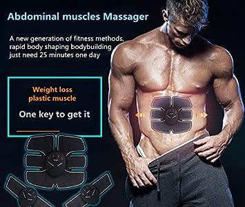 estimulante Entrenamiento de abdomen//brazo//pierna Estimulador muscular para el hogar EMS Fitness Abdominal Pad de entrenamiento Estimulador corporal unisex t/óner muscular
