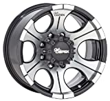 Dick Cepek DC-2 Gloss Black Wheel with Machined Finish, 18x9 inches (5 holes x 5.5 inches)
