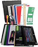 35 Item Back to School Supplies - High School, Middle School Bundle - 1' Binder, Tabs, Pouch, Folders, Notebooks, Filler and Graph Paper, Ruler, Pens, Pencils, Eraser, Highlighters, Note Cards