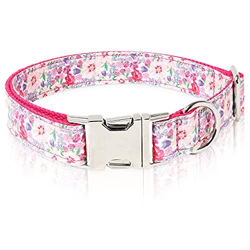 collar para perro ajustable con broche metal spring talle L