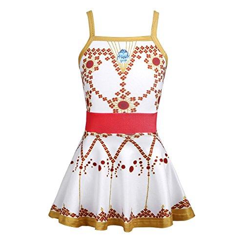 Mean Girls Xmas Dance (inlzdz Kids Girl Felicie Ruffles Dance Dress Movie Ballerina Leap Leotard Ballet Tutu Skirts Princess Costume Gold Spaghetti Straps)