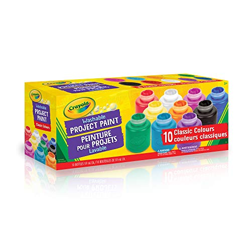 6e6049c0b5aa Crayola 10 59ml Paint Jars, Assorted Classic Colours, School, Craft,  Painting and Art Supplies, Kids, Ages 3,4, 5, 6 and Up, Arts and Crafts,  Back to ...