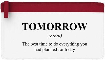 Mañana Definición divertida alternativa no en el estuche de lápices de diccionario o bolsa de embrague, color rosso talla única: Amazon.es: Oficina y papelería