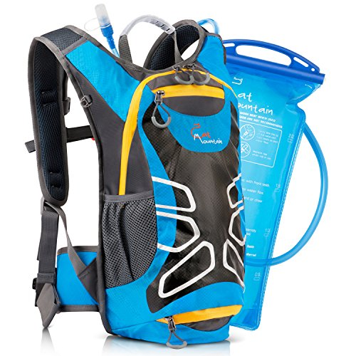Hydration BackPack Includes Free 2.0L (70oz) Water Bladder – Great for Running, Biking, Hiking and All Other Sports and Outdoor Activities - Cat Mountain Backpacks Fits both Men and Women