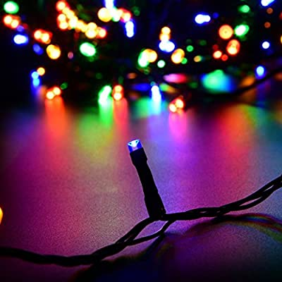 Solar Powered Decorative Twinkle LED Lights More Light Bulbs Waterproof Colorful Changing Starry Fairy Outdoor String Lights for Patio,Gardens,Indoor Decor,Lawn,Wedding Party