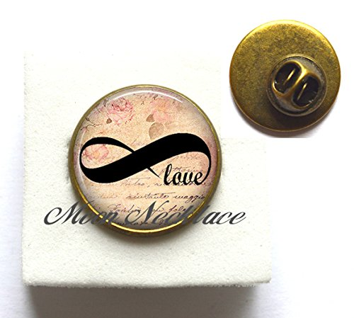Beautiful Brooch,Forever Love Brooch Infinity Pin Infinity Brooch Infinity jewelry lover's gift Valentine's gift anniversary gift,Simple Brooch, Dainty Brooch-ZE158