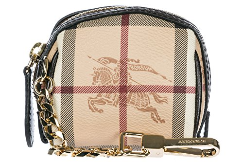 Burberry women's genuine leather keychain keyring holder gift brown by BURBERRY