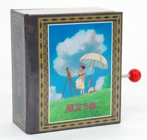 Caja de música tipo Studio Ghibli BOOK KAZE TATINU -el viento sube-