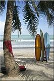 Startonight Wall Art Canvas Surf Bali, Indonesia, Beach USA Design for Home Decor, Dual View Surprise Artwork Modern Framed Ready to Hang Wall Art 23.62 X 35.43 Inch 100% Original Art Painting!