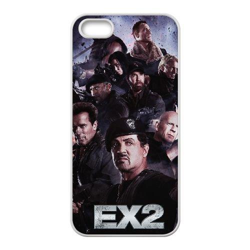 The Expendables 001 2 coque iPhone 4 4S cellulaire cas coque de téléphone cas blanche couverture de téléphone portable EOKXLLNCD20004