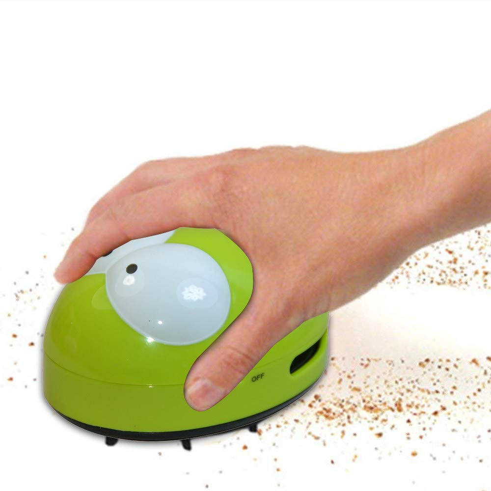 Dreamyth Desktop Vacuum Cleaner Mini Dust Collector Household Table Cleaning Tool Durable (Green)