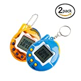 HNBility 2PCS Funny 90S Nostalgic 49 Pets in One Virtual Cyber Pet Toy