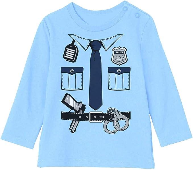 Camiseta bebé Unisex Manga Larga - Disfraz de Policía para Niños ...