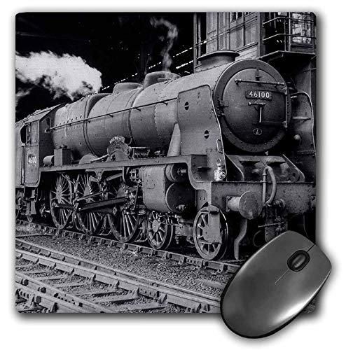 (3dRose Scenes from The Past Magic Lantern Slide - Magic Lantern Vintage LMS Royal Scot Steam Locomotive Train Station - Mousepad (mp_240525_1))
