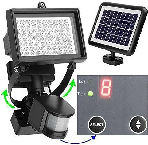 80 LED Solaire Éclairage Extérieur avec Détecteur de Mouvement +++ ...
